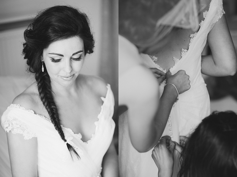Fishtail bridal hair