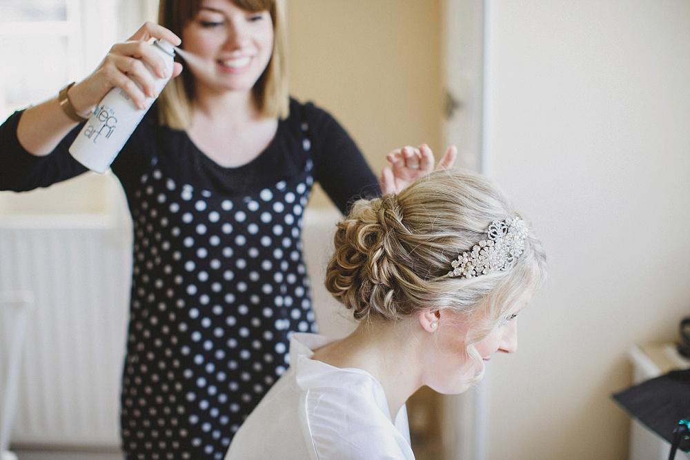 Polka Dot Hair and Makeup